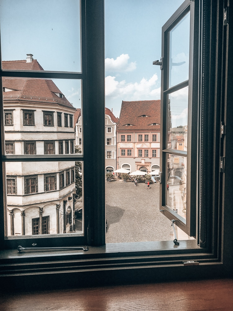 View from the hotel room at Emmerich Hotel Gorlitz